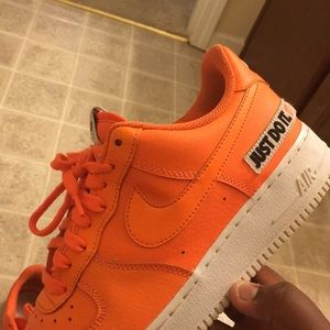 Nike Air Force just do it low tops